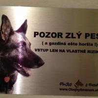 Kovová tabuľka s vlastným textom a fotkou Vášho psíka!!!