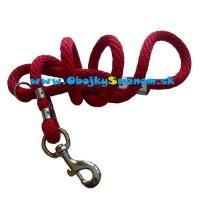 LV2. Červené lanové vodítko, s uchom alebo prepínacie