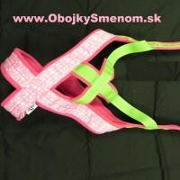 """WP3. Weight pull postroj, """"CRAZY edícia"""" – ružový motýľ + zelený popruh"""