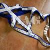 WP postroj biely podšitý modrým flísom