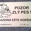 pozor zly pes a gazdina este horsia www.obojkysmenom.sk