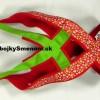 """WP1. Weight pull postroj, """"CRAZY edícia"""" – červený motýľ + zelený popruh"""